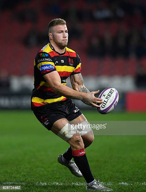 Ross Moriarty of Gloucesterin action during the European Rugby Challenge Cup match between Gloucester Rugby and Stade Rochelais at Kingsholm on...