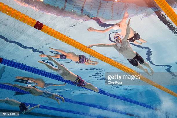 Ross Murdoch of Great Britain competes in the Men's 100m semi final on day eight of the 33rd LEN European Swimming Championships 2016 at the London...