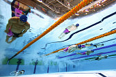 Ross Murdoch of Scotland competes on the way to winning the gold medal in the Men's 200m Breaststroke Final at Tollcross International Swimming...