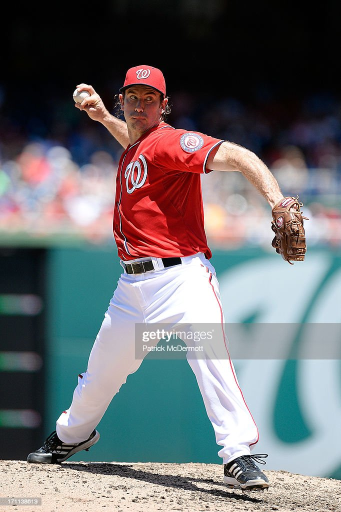 <a gi-track='captionPersonalityLinkClicked' href=/galleries/search?phrase=Ross+Ohlendorf&family=editorial&specificpeople=4172563 ng-click='$event.stopPropagation()'>Ross Ohlendorf</a> #43 of the Washington Nationals throws a pitch during a game against the Colorado Rockies at Nationals Park on June 22, 2013 in Washington, DC.