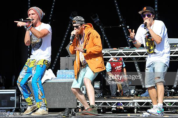 Ross Standaloft and Leon Rhymes of Too Many T's perform on stage during Day 2 of Bestival 2013 at Robin Hill Country Park on September 6 2013 in...