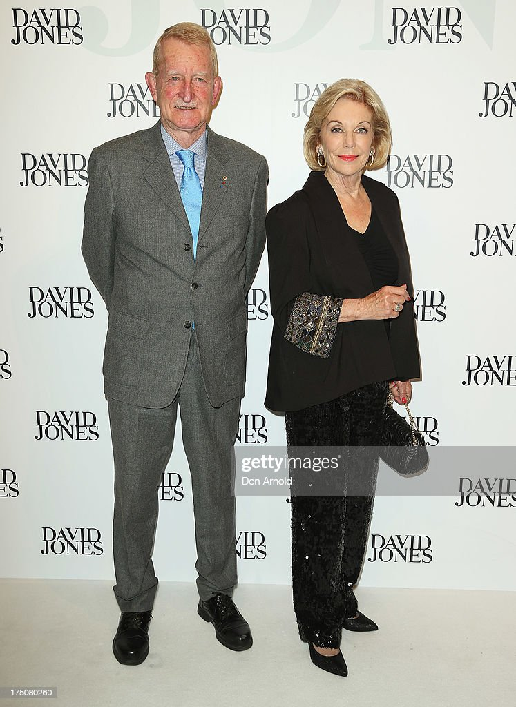 Ross Steele and Ita Buttrose arrive at the David Jones Spring/Summer 2013 Collection Launch at David Jones Elizabeth Street on July 31, 2013 in Sydney, Australia.