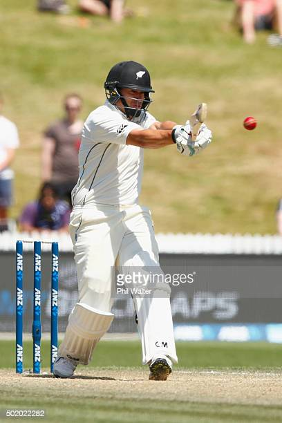 Ross Taylor of New Zealand bats during day three of the Second Test match between New Zealand and Sri Lanka at Seddon Park on December 20 2015 in...