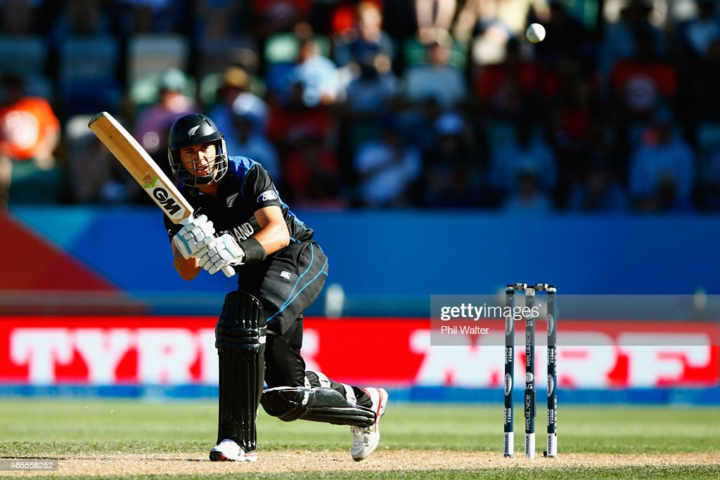 <a gi-track='captionPersonalityLinkClicked' href=/galleries/search?phrase=Ross+Taylor&family=editorial&specificpeople=845922 ng-click='$event.stopPropagation()'>Ross Taylor</a> of New Zealand bats during the 2015 ICC Cricket World Cup match between New Zealand and Afghanistan at McLean Park on March 8, 2015 in Napier, New Zealand.