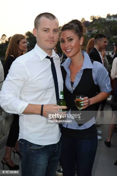 Ross Thurber and Sara Koplin attend Bret Easton Ellis to celebrate the publication of his new novel IMPERIAL BEDROOMS at Penthouse on June 10 2010 in...