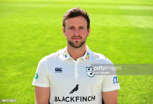 Ross Whiteley of Worcestershire County Cricket Club poses in the Specsavers County Championship kit during the Worcestershire County Cricket...