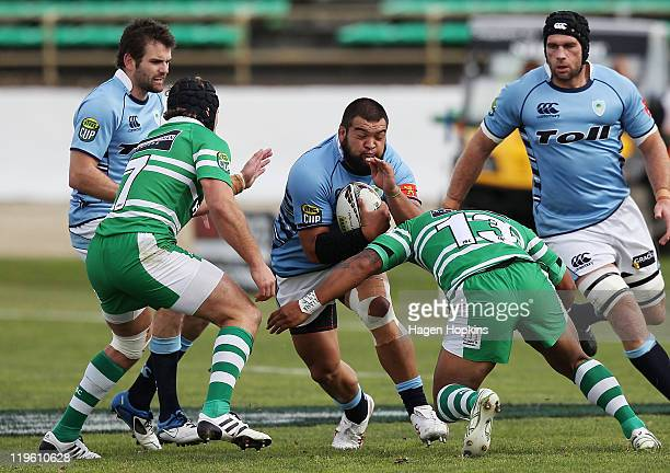 Ross Wright of Northland runs the ball during the round three ITM Cup match between Manawatu and Northland at FMG Stadium on July 23 2011 in...
