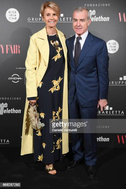 Rossana Letta and Giampaolo Letta attend Telethon Gala during the 12th Rome Film Fest at Villa Miani on October 30 2017 in Rome Italy