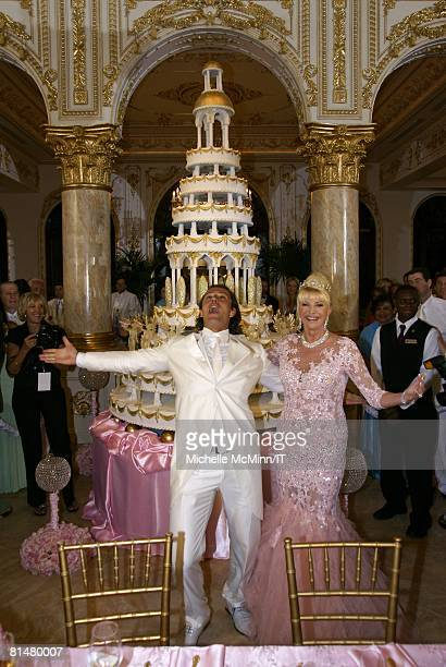 RATES Rossano Rubicondi and Ivana Trump during their wedding reception at the MaraLago Club on April 12 2008 in Palm Beach Florida Ivana Trumps...