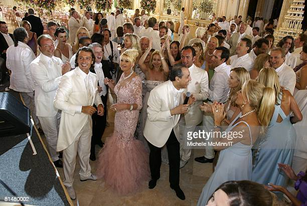 RATES Rossano Rubicondi Ivana Trump and musician Samy Goz during the wedding reception of Ivana Trump and Rossano Rubicondi at the MaraLago Club on...