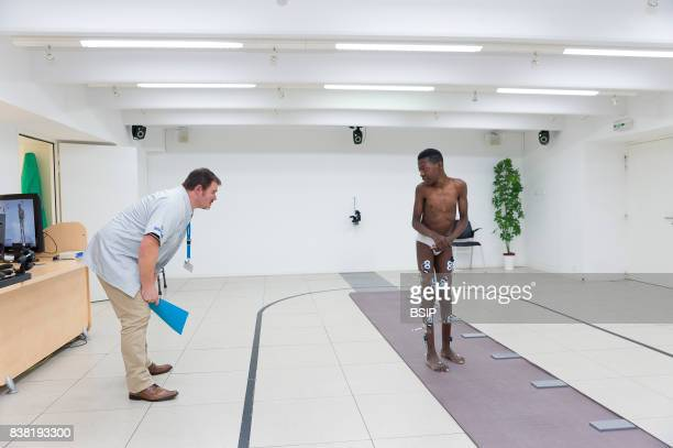 Rossetti health center France rehabilitation center with cuttingedge technology Seen here a quantified motion analysis test carried out in the...