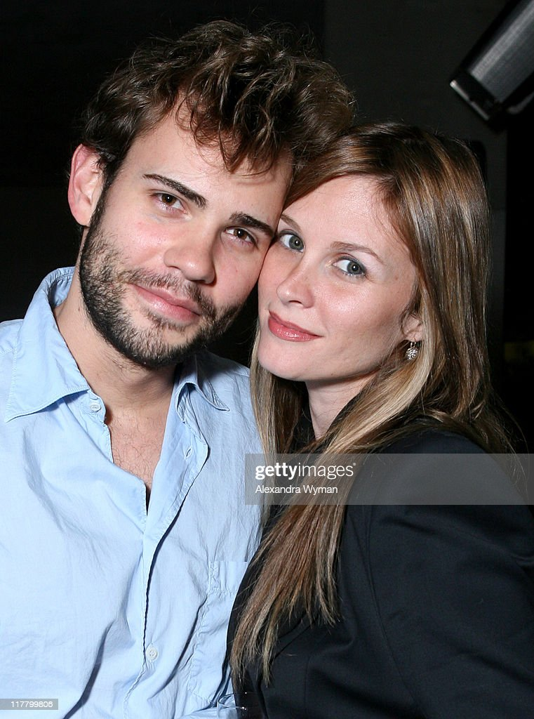 Rossif Sutherland and Bonnie Somerville during Hennessy Higher Marques Dinner Hosted by Bonnie Somerville in Los Angeles CA United States