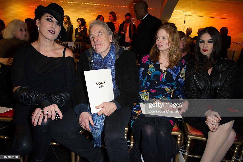 Rossy de Palma, Abel Ferrara, Shanyn Leigh and Paz Vega attend the Jean-Paul Gaultier Spring/Summer 2013 Haute-Couture show as part of Paris Fashion Week at on January 23, 2013 in Paris, France.
