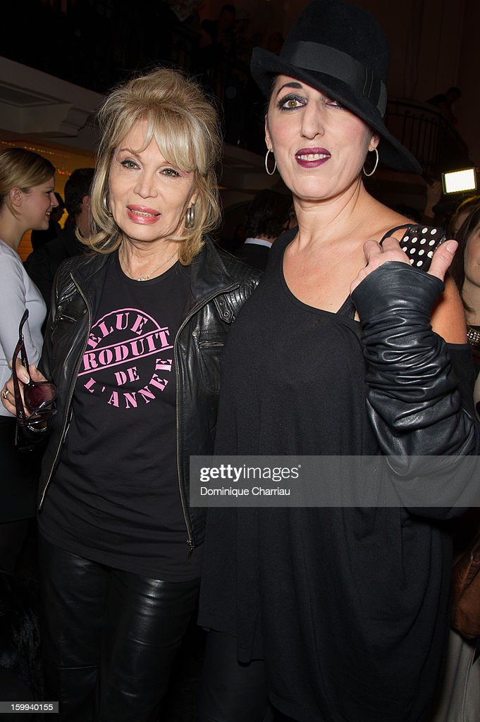 Rossy de Palma and Amanda Lear attend the Jean-Paul Gaultier Spring/Summer 2013 Haute-Couture show as part of Paris Fashion Week at on January 23, 2013 in Paris, France.