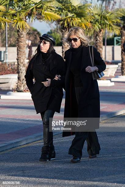 Rossy de Palma and Bibiana Fernandez attend the funeral chapel for Bimba Bose on January 24 2017 in Madrid Spain Bimba Bose died in Madrid at the age...