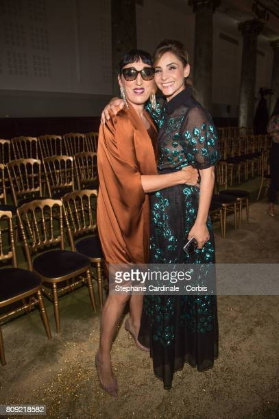 Rossy de Palma and Clotilde Courau attend the Elie Saab Haute Couture Fall/Winter 20172018 show as part of Haute Couture Paris Fashion Week on July 5...