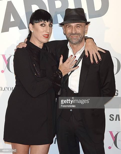 Rossy de Palma and guest attend the 'Yo Dona' Party at the NH Collection Eurobuilding Hotel on September 17 2015 in Madrid Spain