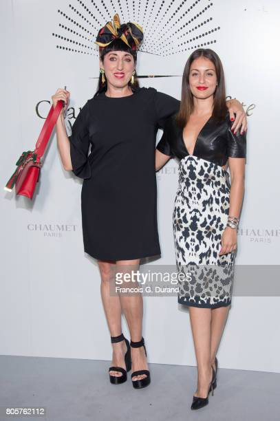 Rossy de Palma and Hiba Abouk attend the 'Chaumet Est Une Fete' Haute Joaillerie Collection Launch as part of Haute Couture Paris Fashion Week on...