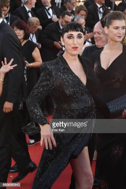 Rossy de Palma and Oriane Deschamps attend the 'Okja' Screening during the 70th annual Cannes Film Festival at Palais des Festivals on May 19 2017 in...