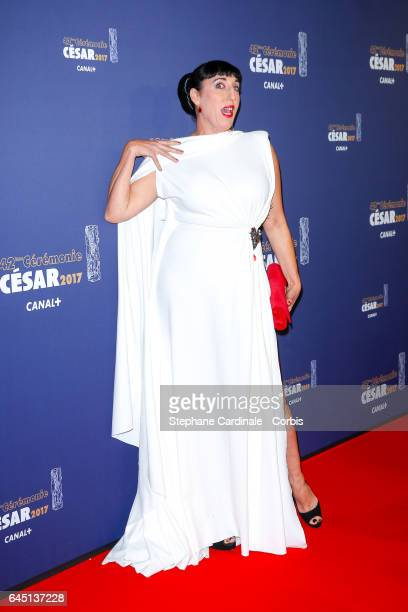 Rossy de Palma arrives at the Cesar Film Awards 2017 ceremony at Salle Pleyel on February 24 2017 in Paris France
