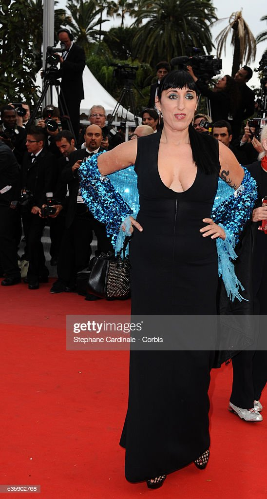 Rossy De Palma at the Premiere for 'You will meet a tall dark stranger' during the 63rd Cannes International Film Festival.