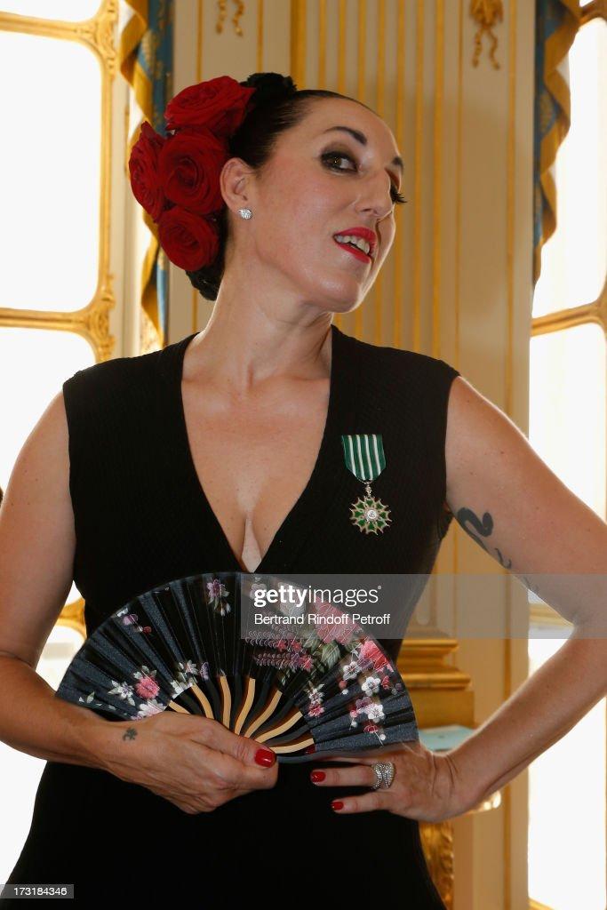 Rossy De Palma attends her 'Arts et des Lettres' decoration at Ministere de la Culture on July 9, 2013 in Paris, France.