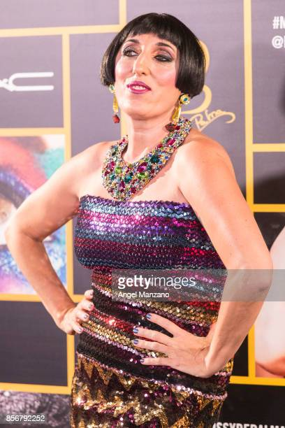 Rossy de Palma attends MAC collection photocall at El Principito theater on October 2 2017 in Madrid Spain