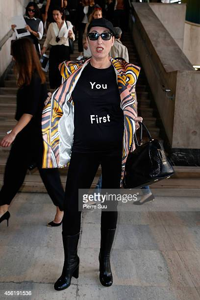 Rossy de Palma attends the Acne Studios show as part of the Paris Fashion Week Womenswear Spring/Summer 2015 on September 27 2014 in Paris France