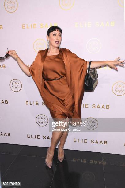 Rossy de Palma attends the Elie Saab Haute Couture Fall/Winter 20172018 show as part of Paris Fashion Week on July 5 2017 in Paris France