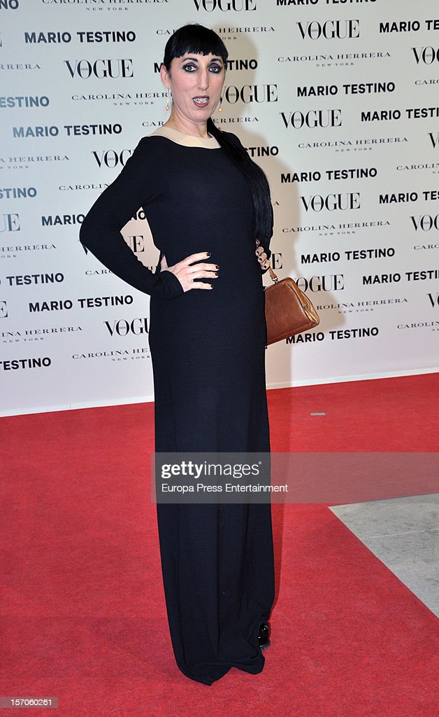 <a gi-track='captionPersonalityLinkClicked' href=/galleries/search?phrase=Rossy+de+Palma&family=editorial&specificpeople=624132 ng-click='$event.stopPropagation()'>Rossy de Palma</a> attends Vogue Magazine December issue launch party at Fernan Nunez Palace on November 27, 2012 in Madrid, Spain.