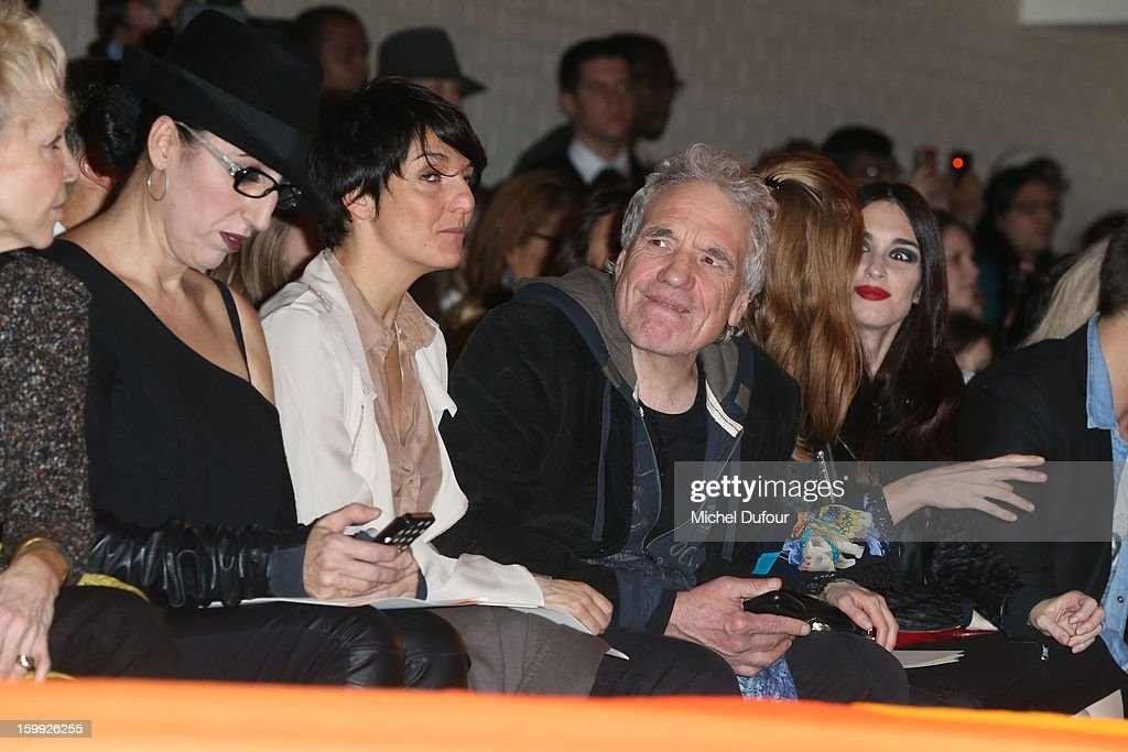 Rossy de Palma, Florence Foresti, Abel Ferrara, Shanyn Leigh and Paz Vega attend the Jean-Paul Gaultier Spring/Summer 2013 Haute-Couture show as part of Paris Fashion Week at on January 23, 2013 in Paris, France.