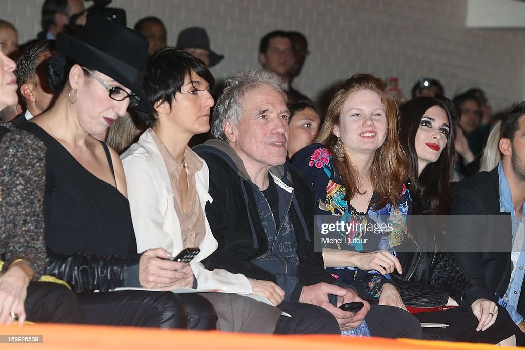 Rossy de Palma, Florence Foresti, Abel Ferrara, Shanyn Leigh and Paz Vega attend the Jean-Paul Gaultier Spring/Summer 2013 Haute-Couture show as part of Paris Fashion Week at Rue Saint Martin headquarters on January 23, 2013 in Paris, France.
