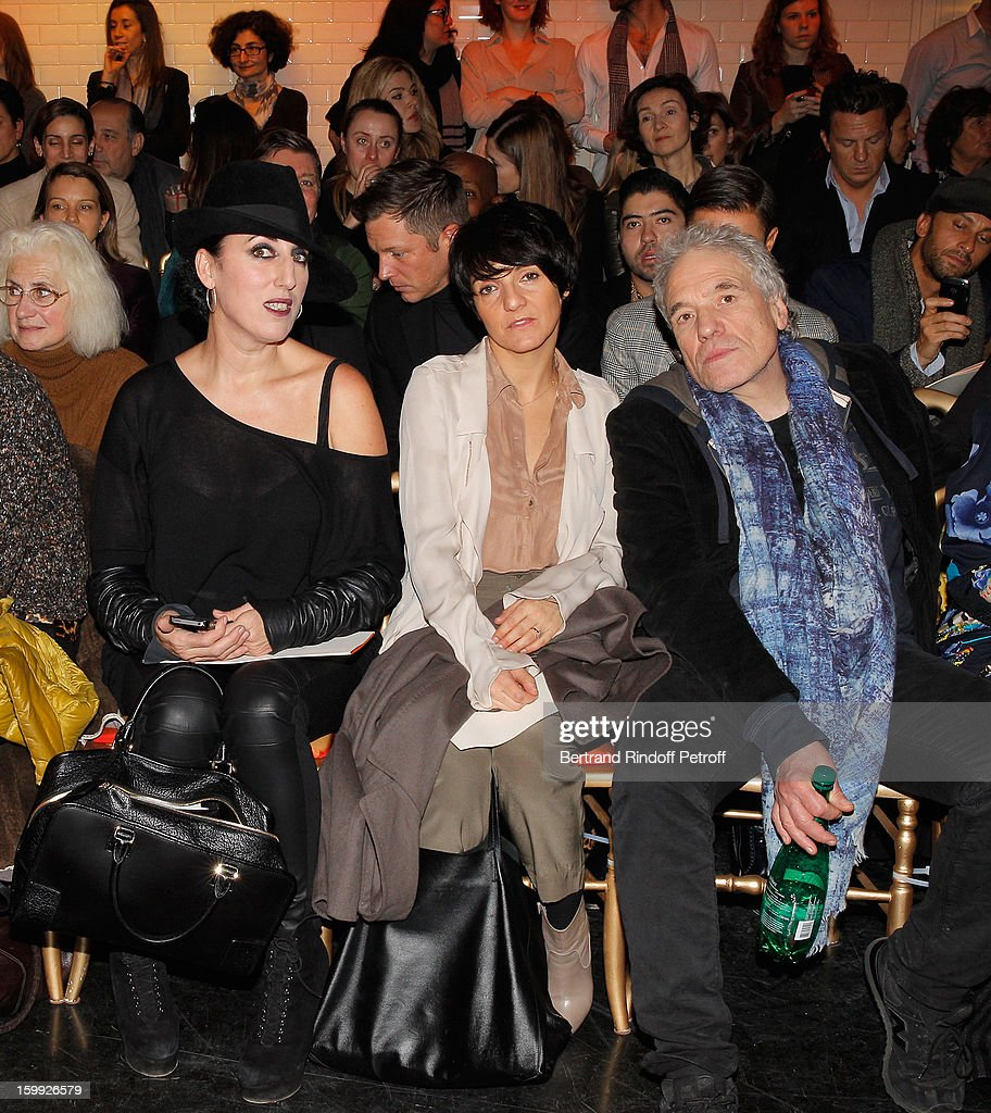 <a gi-track='captionPersonalityLinkClicked' href=/galleries/search?phrase=Rossy+de+Palma&family=editorial&specificpeople=624132 ng-click='$event.stopPropagation()'>Rossy de Palma</a>, <a gi-track='captionPersonalityLinkClicked' href=/galleries/search?phrase=Florence+Foresti&family=editorial&specificpeople=4946831 ng-click='$event.stopPropagation()'>Florence Foresti</a> and <a gi-track='captionPersonalityLinkClicked' href=/galleries/search?phrase=Abel+Ferrara&family=editorial&specificpeople=586297 ng-click='$event.stopPropagation()'>Abel Ferrara</a> attend the Jean-Paul Gaultier Spring/Summer 2013 Haute-Couture show as part of Paris Fashion Week at on January 23, 2013 in Paris, France.