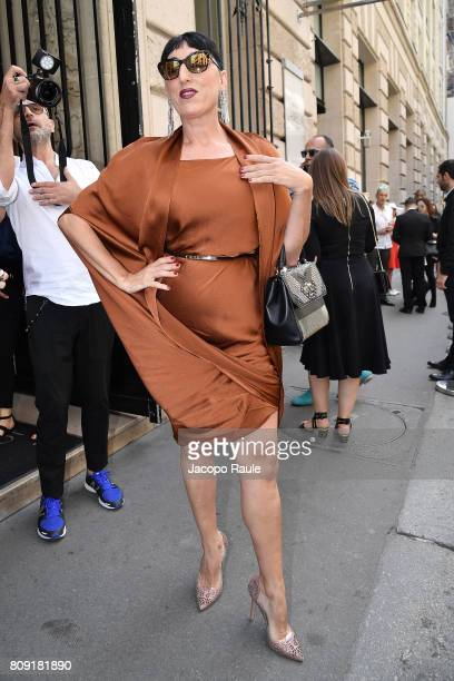 Rossy de Palma is seen arriving at Elie Saab fashion show during the Paris Fashion Week Haute Couture Fall/Winter 20172018 on July 5 2017 in Paris...