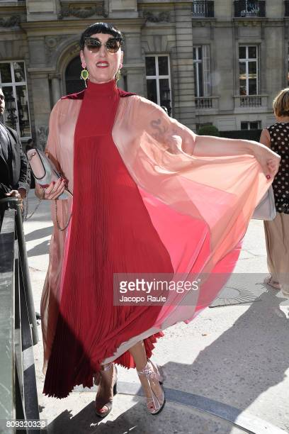 Rossy de Palma is seen arriving at Valentino fashion show during the Paris Fashion Week Haute Couture Fall/Winter 20172018 on July 5 2017 in Paris...