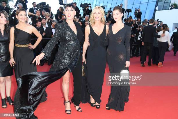 Rossy de Palma Michele Laroque and Oriane Deschamps attend the 'Okja' screening during the 70th annual Cannes Film Festival at Palais des Festivals...