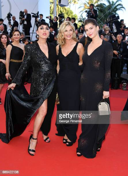 Rossy de Palma Michele Laroque and Oriane Deschamps attends the 'Okja' screening during the 70th annual Cannes Film Festival at Palais des Festivals...