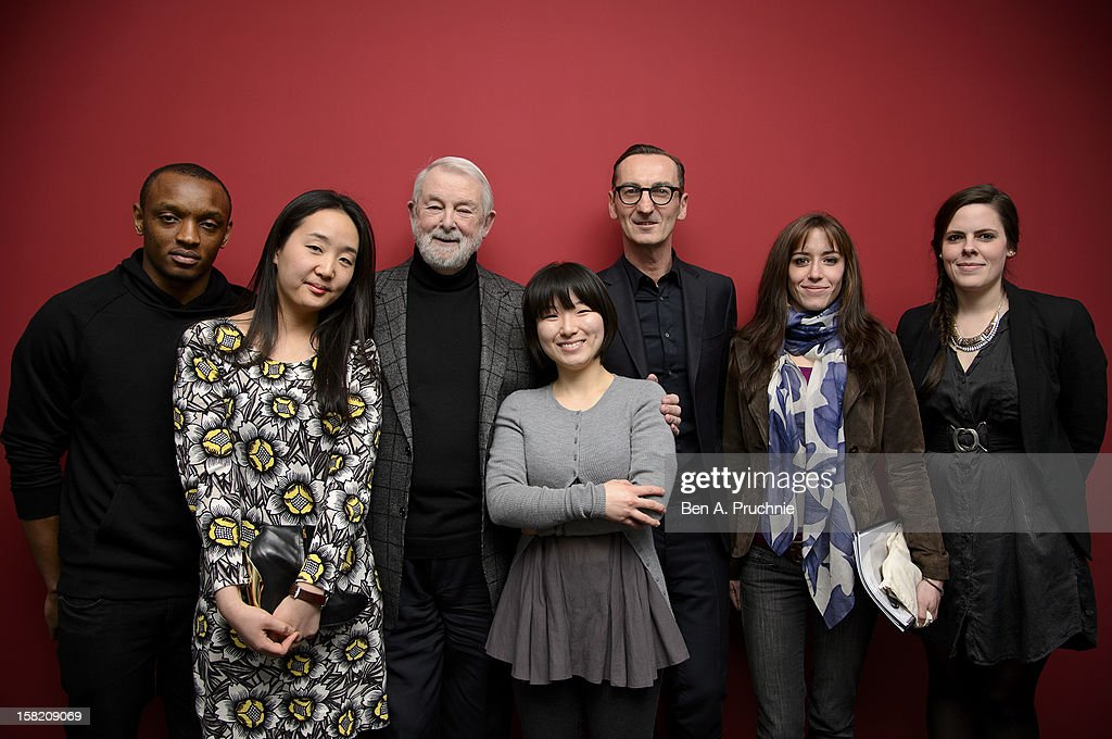 Rostand Tchonsini, Sangmin Park, Colin McDowell, Min Kyung Song, Bruno Frisoni, Pauline Courtois and Emma Boutet attend the Fashion Fringe and Accessories 2012 award at IMG Fashion, on December 11, 2012 in London, England.