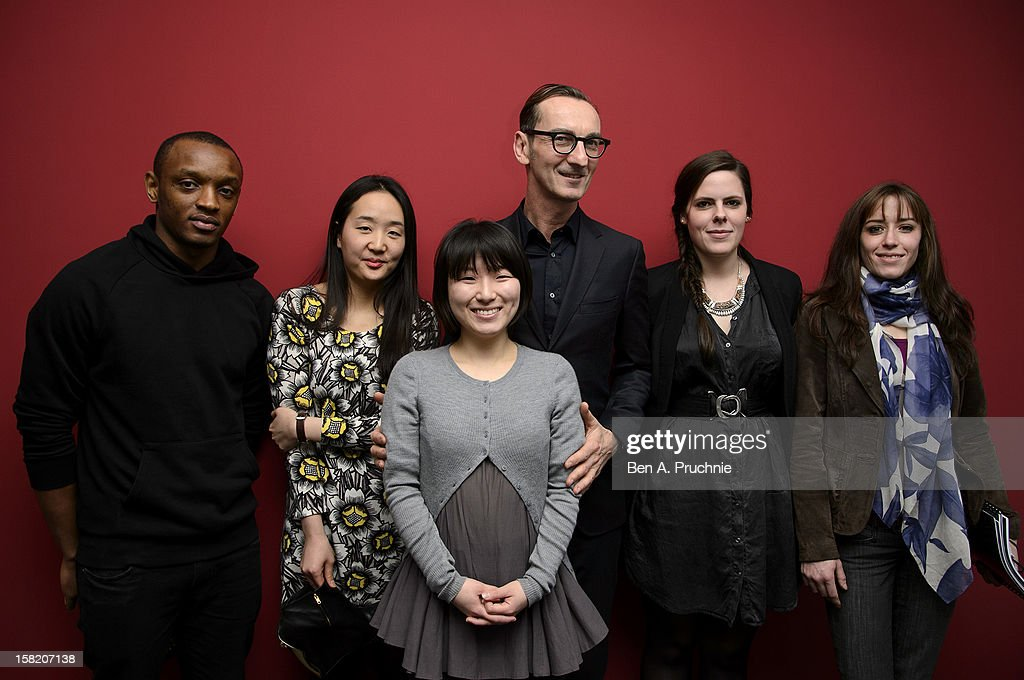 Rostand Tchonsini, Sangmin Park, Min Kyung Song, Bruno Frisoni, Pauline Courtois and Emma Boutet attend the Fashion Fringe and Accessories 2012 award at IMG Fashion, on December 11, 2012 in London, England.