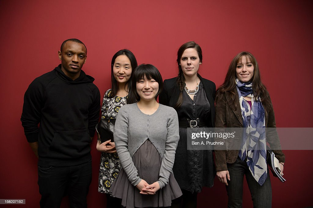 Rostand Tchonsini, Sangmin Park, Min Kyung Song, Pauline Courtois and Emma Boutet attend the Fashion Fringe and Accessories 2012 award at IMG Fashion, on December 11, 2012 in London, England.