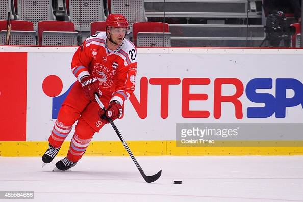 Rostislav Klesla od Ocelari Trinec during the Champions Hockey League group stage game between Ocelari Trinec and Stavanger Oilers at WERK Arena on...