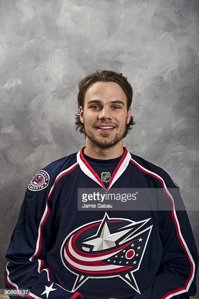 Rostislav Klesla of the Columbus Blue Jackets poses for his official headshot for the 20092010 NHL season