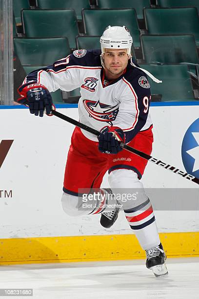 Rostislav Klesla of the Columbus Blue Jackets skates prior to the NHL game against the Florida Panthers on January 19 2011 at the BankAtlantic Center...