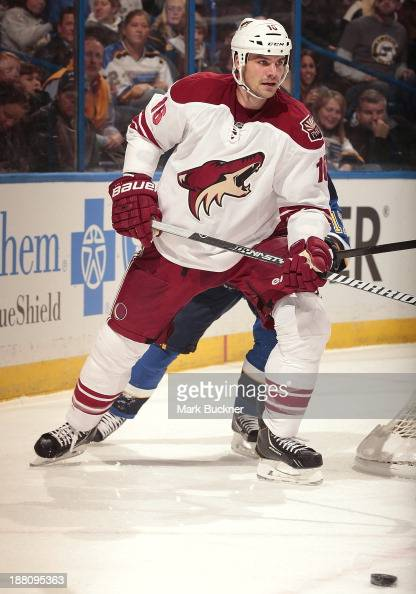 Rostislav Klesla of the Phoenix Coyotes skates against the St Louis Blues on November 12 2013 at Scottrade Center in St Louis Missouri