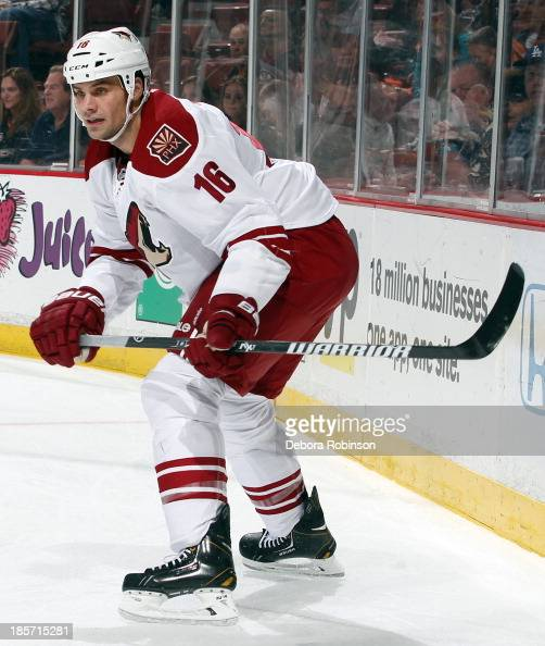 Rostislav Klesla of the Phoenix Coyotes skates during the game against the Anaheim Ducks on October 18 2013 at Honda Center in Anaheim California