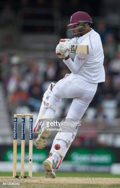 Roston Chase of West Indies batting during the fifth day of the second test between England and West Indies at Headingley on August 29 2017 in Leeds...