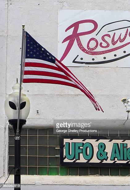 Roswell street scene with alien