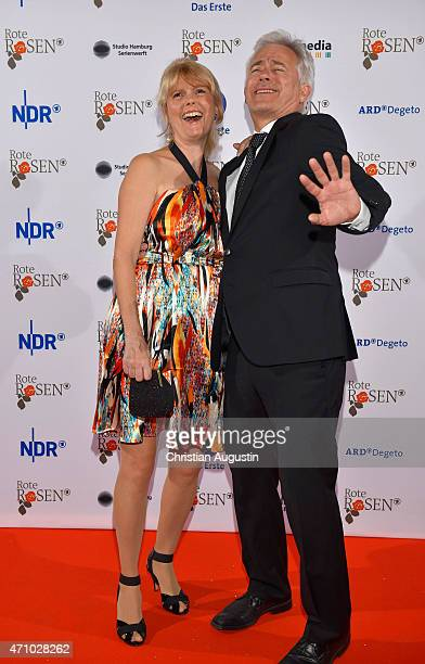 Roswitha Schreiner and Gerry Hungbauer attend the celebration of 2000 episodes of 'Rote Rosen' at Ritterakademie on April 24 2015 in Lueneburg Germany
