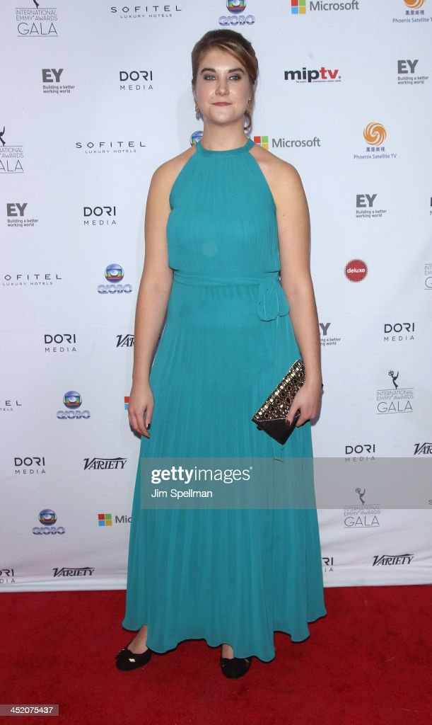 Rosy Deacon attends the 41st International Emmy Awards at the Hilton New York on November 25, 2013 in New York City.