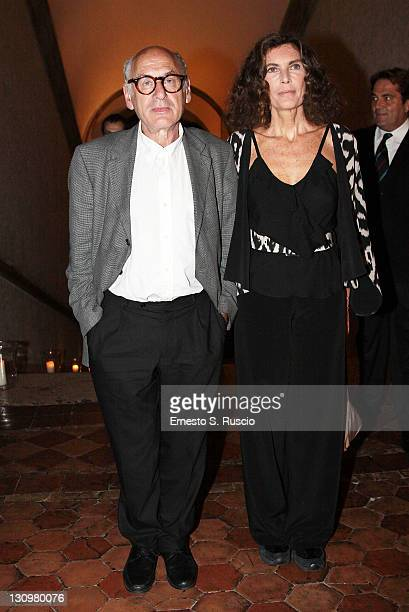 Rosy Greco and Michael Nyman attend a Dinner Gala at Palazzo Farnese on October 30 2011 in Rome Italy